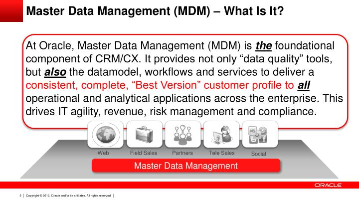 Master Data Management (MDM) – What Is It?