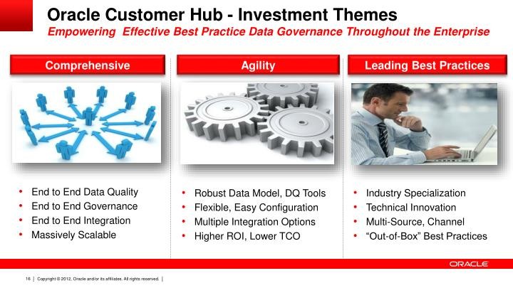 Oracle Customer Hub - Investment Themes