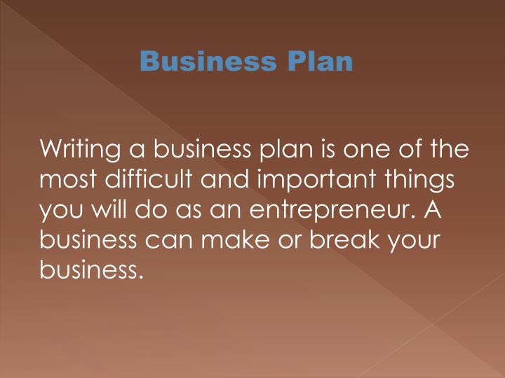 Business Pla
