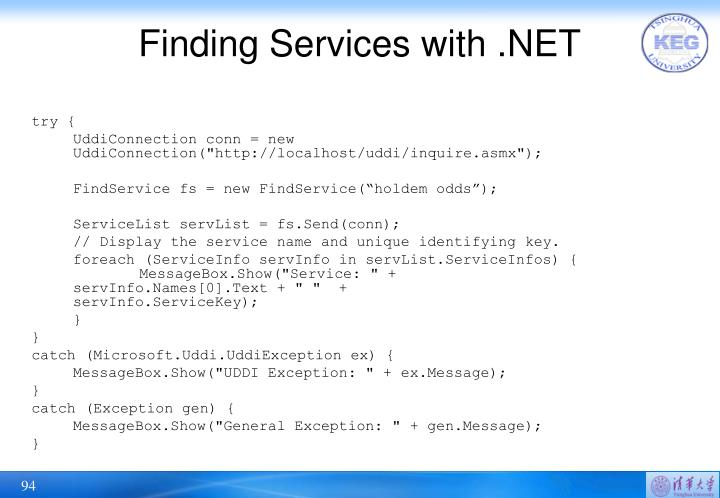 Finding Services with .NET