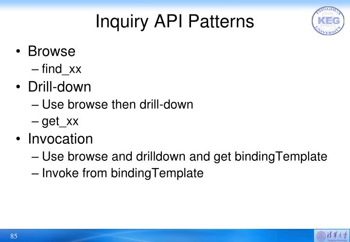 Inquiry API Patterns