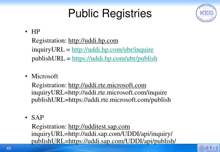 Public Registries