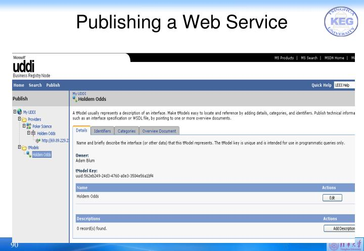 Publishing a Web Service