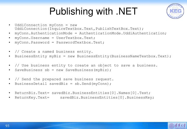 Publishing with .NET