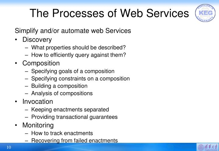 The Processes of Web Services