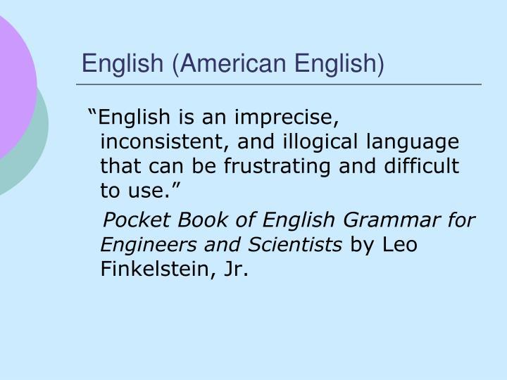 English (American English)