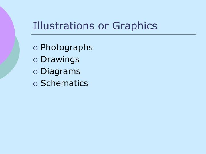 Illustrations or Graphics