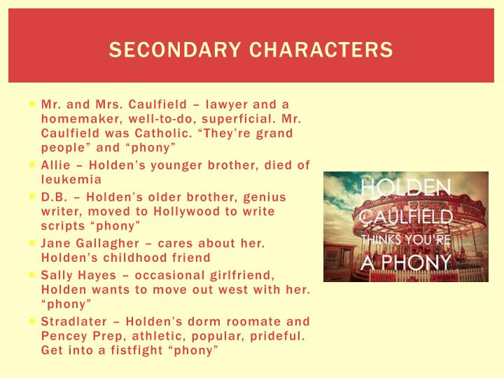 Secondary characters