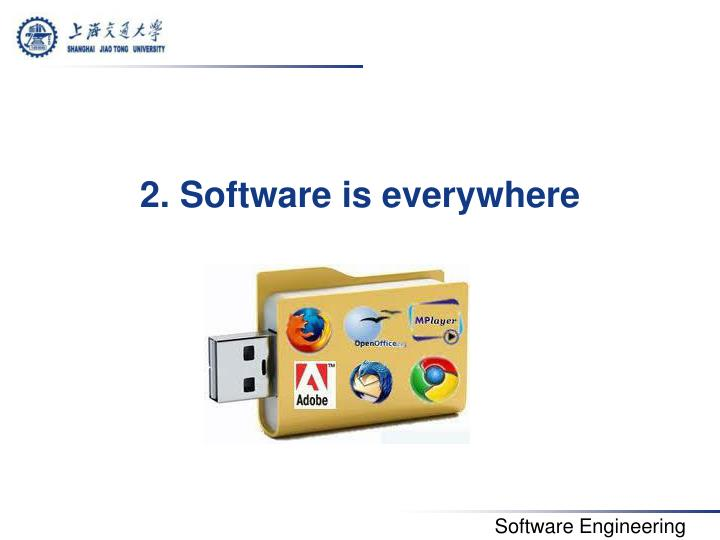 2. Software is everywhere