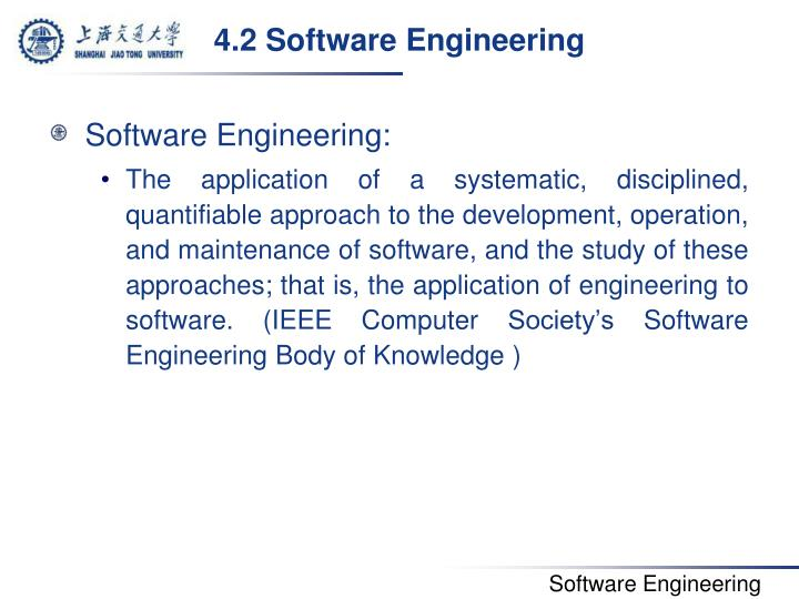 4.2 Software Engineering