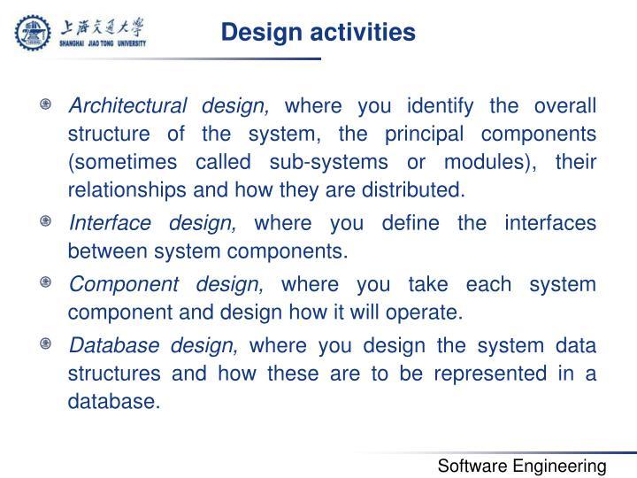 Design activities