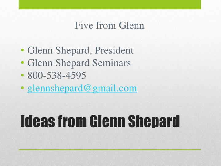 Five from Glenn