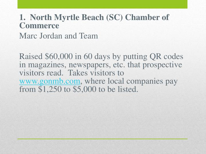 1.  North Myrtle Beach (SC) Chamber of Commerce