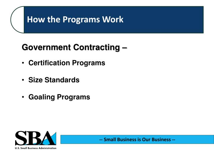 Government Contracting –