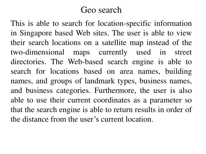 Geo search