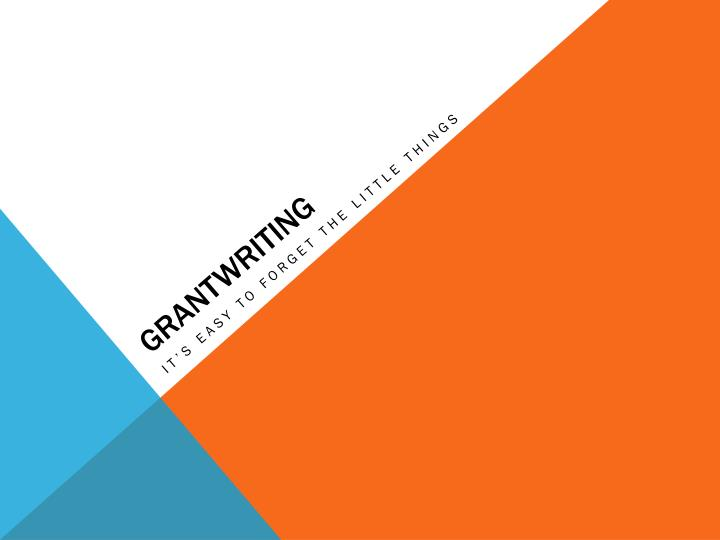 Grantwriting