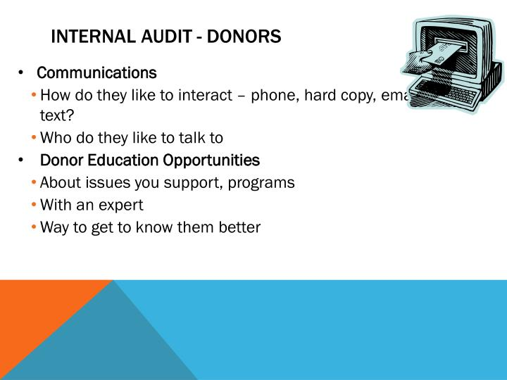 Internal Audit - Donors