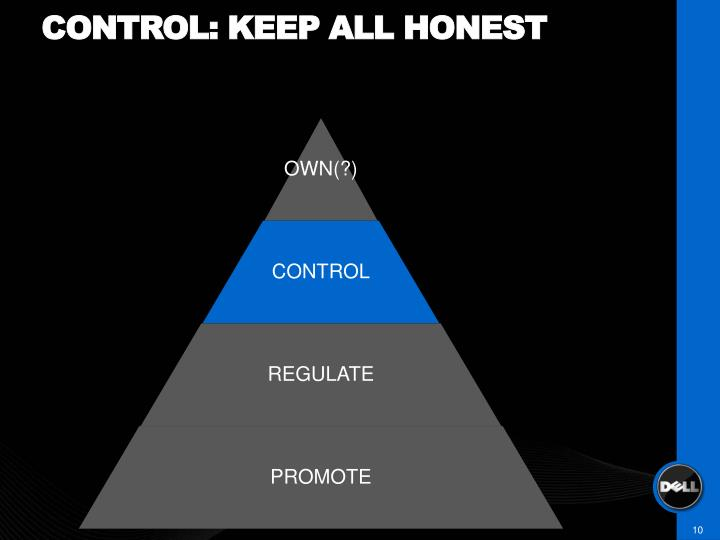 Control: keep all honest