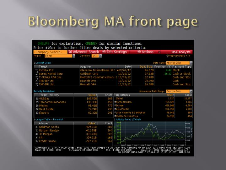 Bloomberg MA front page