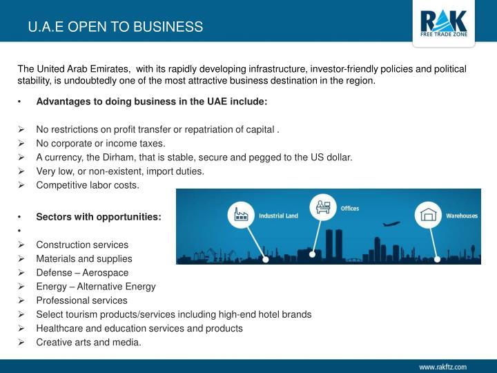 U.A.E Open to business
