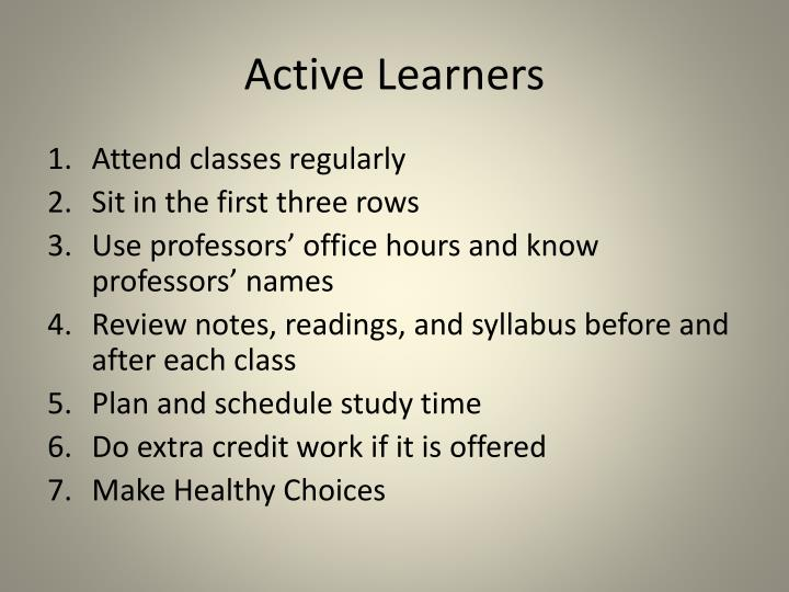 Active Learners