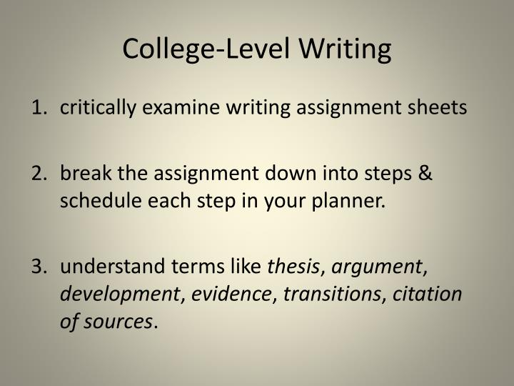 College-Level Writing