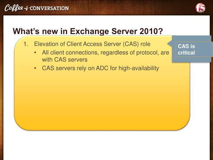 What s new in exchange server 2010