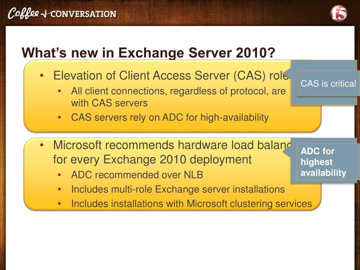 What's new in Exchange Server 2010?