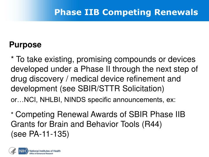 Phase IIB Competing Renewals