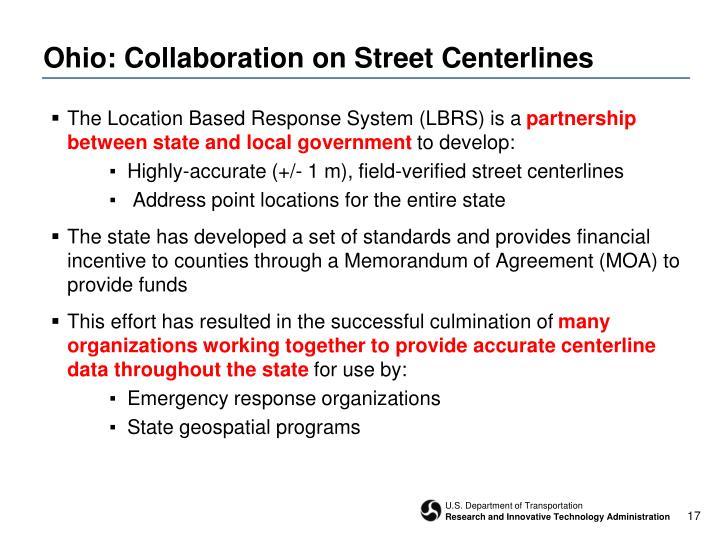 Ohio: Collaboration on Street Centerlines