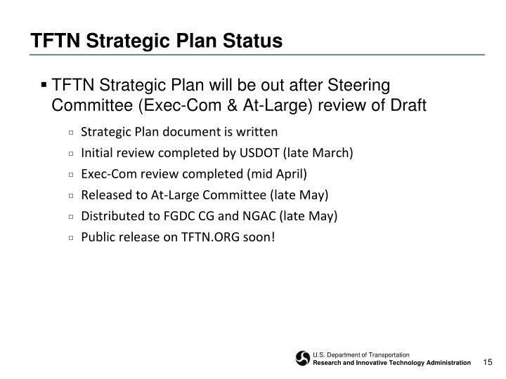 TFTN Strategic Plan Status