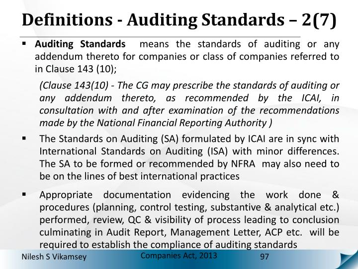 Definitions - Auditing Standards