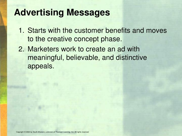 Advertising Messages