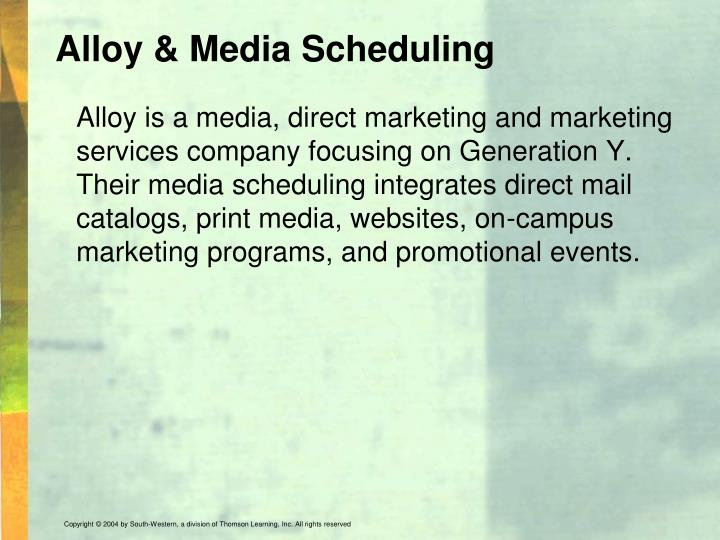 Alloy & Media Scheduling