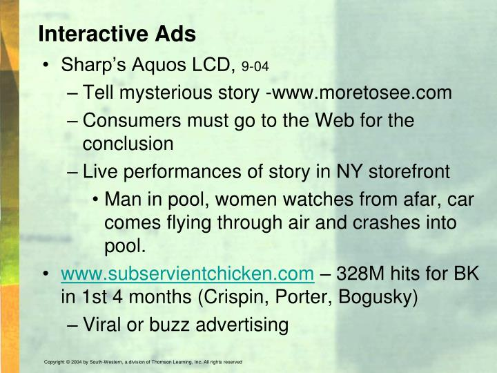 Interactive Ads