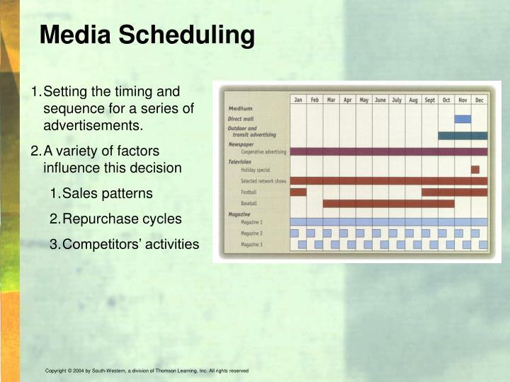Media Scheduling