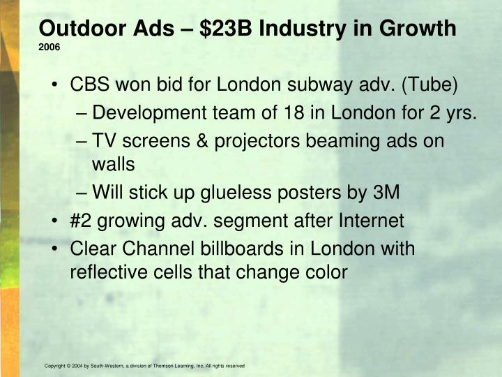 Outdoor Ads – $23B Industry in Growth
