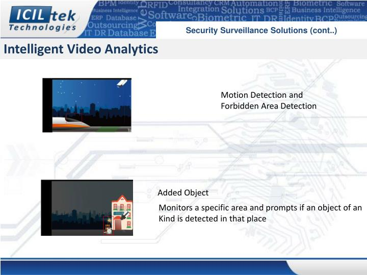 Security Surveillance Solutions (cont