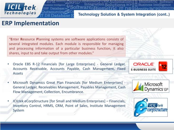Technology Solution & System