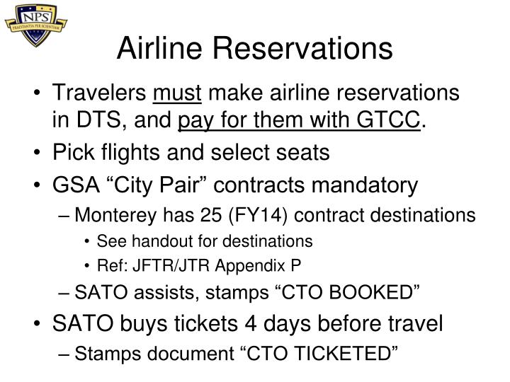 Airline Reservations