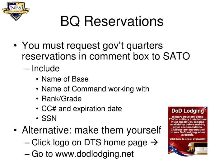 BQ Reservations