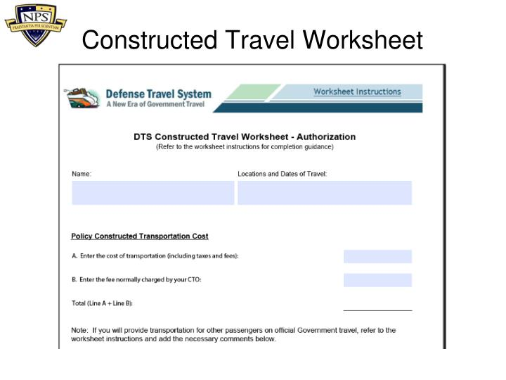 Constructed Travel Worksheet Fillable - constructed travel ...