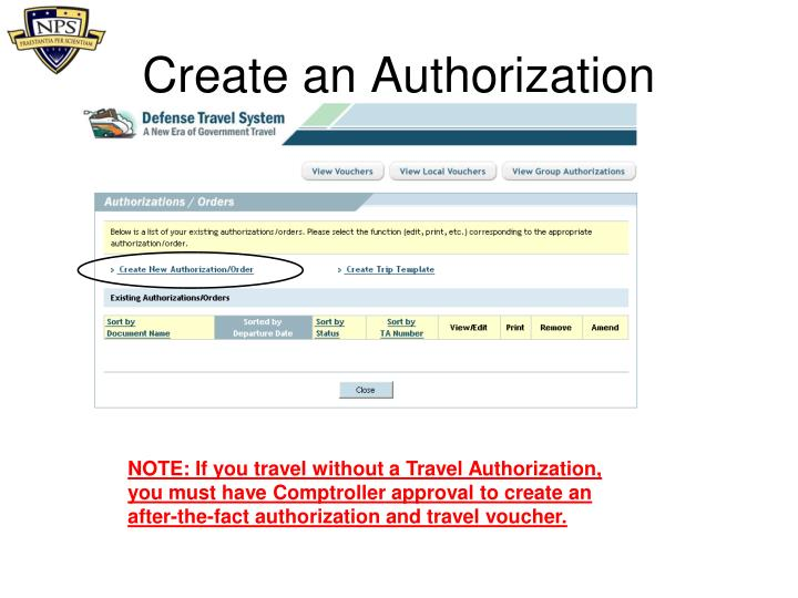 Create an Authorization
