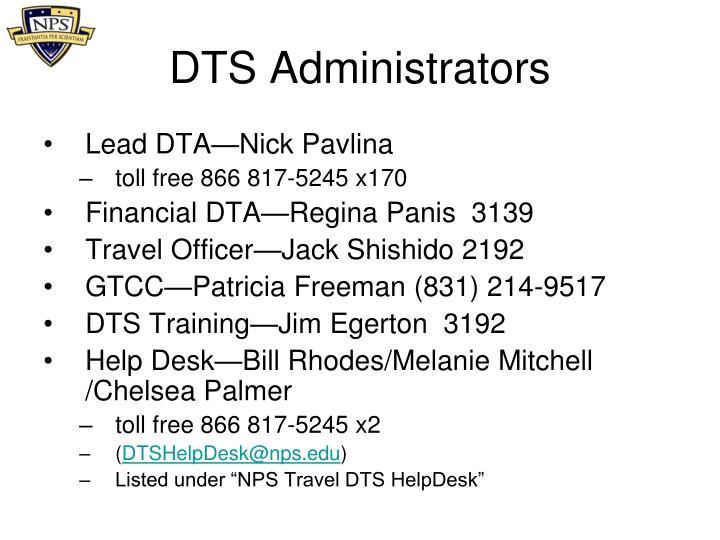 DTS Administrators