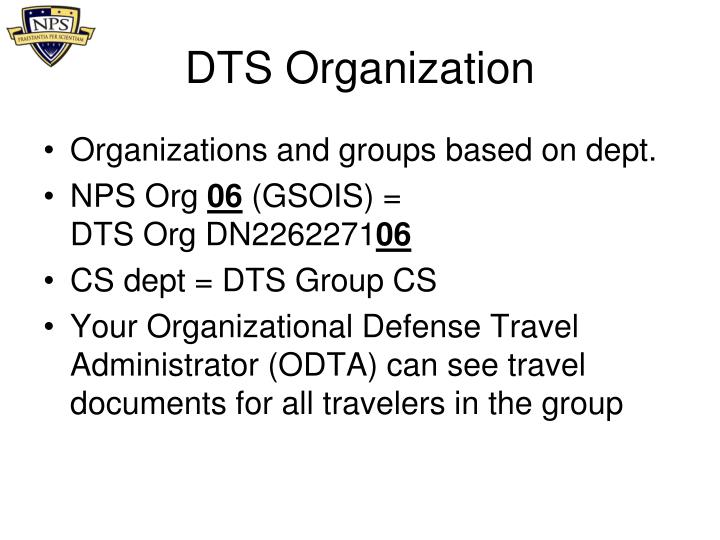 PPT DTS User Training PowerPoint Presentation ID1693303 – Constructed Travel Worksheet Dts
