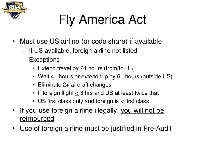 Fly America Act