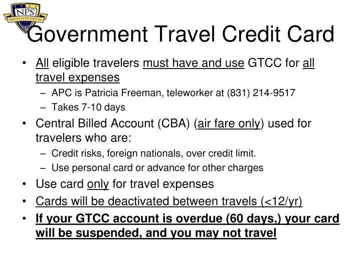 Government Travel Credit Card
