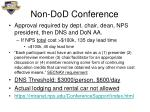 non dod conference