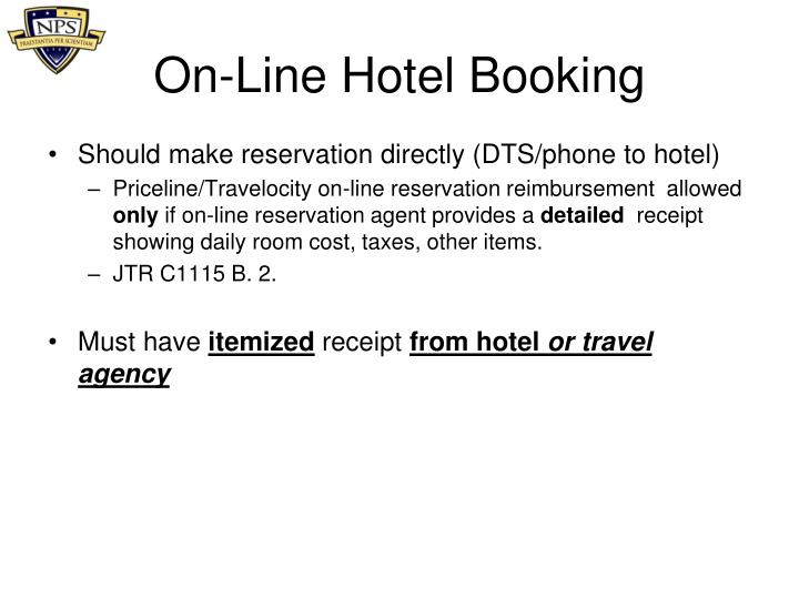 On-Line Hotel Booking
