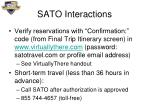 sato interactions